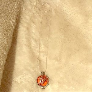 Jewelry - Lotus flower  aroma diffuser necklace